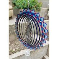 Stainless Steel Wind Spinner - Blue Wave Colour Design