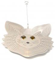 Stainless Steel Wind Spinner - Cat Face Design