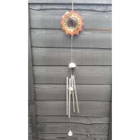 Stainless Steel Wind Spinner - Orange Flash Colour Wind Chime Design