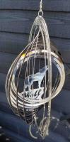 Stainless Steel Wind Spinner - Wolf Rock Design