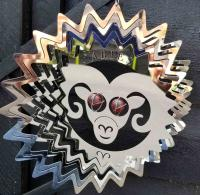 Stainless Steel Wind Spinner Zodiac Design - Aries