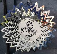 Stainless Steel Wind Spinner Zodiac Design - Scorpio