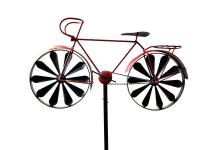 Wind Spinner Garden Stake Windmill Red Racing Bike