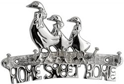 Silver Finish Duck Key Hook - Home Sweet Home