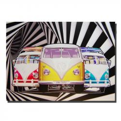 Canvas Wall Art - Kaleidoscope VW Camper Van