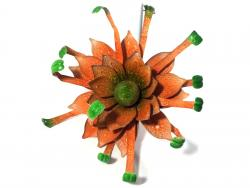 Metal Garden Flower Stake - Yellow Sunflower Explosion
