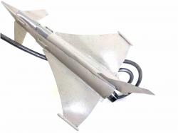 Metal Garden Wind Spinner - Typhoon Fighter