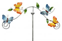 Metal Garden Wind Vane Spinner - Butterflies