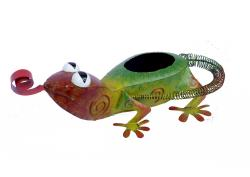 Metal Planter - Gecko Lizard