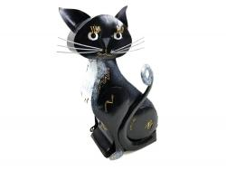 Metal Tuxedo Cat Ornament and Candle Holder