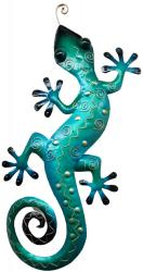 Metal Wall Art - Large Blue Gecko Wall Decor