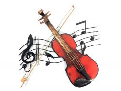 Metal Wall Art - Fiddle Violin Music Swirl