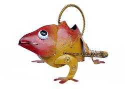 Metal Watering Can - Red Orange Gecko