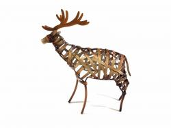 Metal Weave Stag Ornament