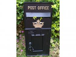 Replica Royal Mail Crown Post Box Or Letter Box Front Fascia - Black