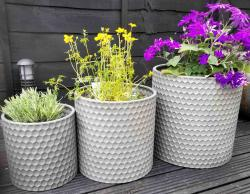 Set of 3 Metal Beehive Planters