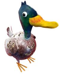 Small Metal Ornament - Duck