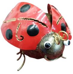 Small Metal Ornament - Ladybird