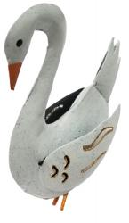 Small Metal Ornament - White Swan