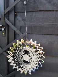 Stainless Steel Wind Spinner Zodiac Design - Cancer