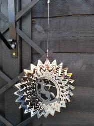Stainless Steel Wind Spinner Zodiac Design - Sagittarius