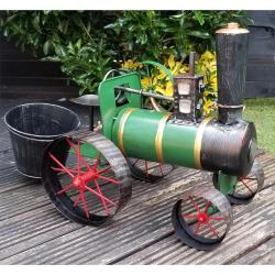 Steam Traction Engine Plant Pot
