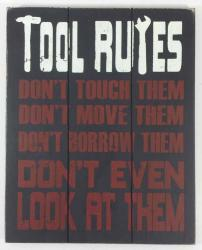 Wooden Wall Art - Tool Rules Sign