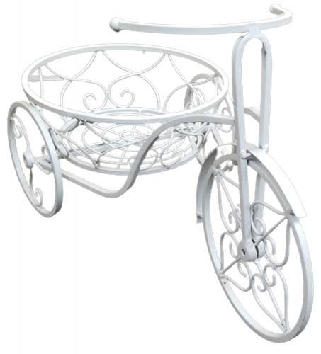 Decorative Small Tricycle Garden Planter - White