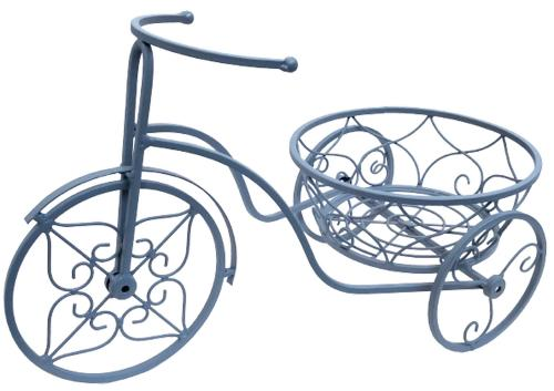 Decorative Small Tricycle Garden Planter - Grey