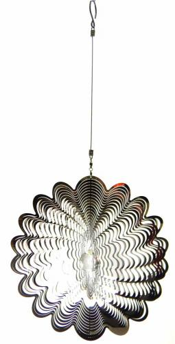 Large Flower Stainless Steel Wind Spinner With Spinner
