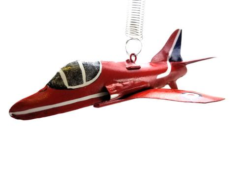 Metal Bouncing Aeroplane - RAF Red Arrows Design