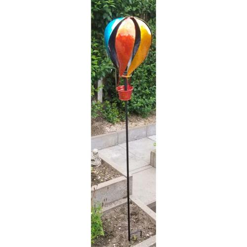 Metal Garden Wind Spinner - Hot Air Balloon