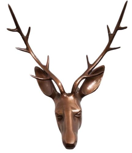 Metal Wall Art - Large Deer Stag Head