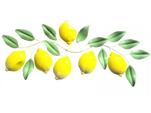 Metal Wall Art - Lemon Scroll