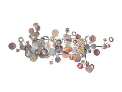 Metal Wall Art Abstract Disc Cluster