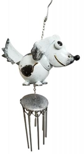 Small Metal Hanging Wind Chime - Dog