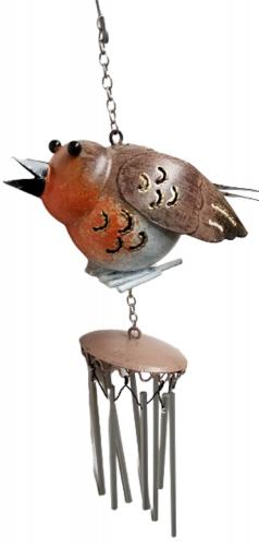 Small Metal Hanging Wind Chime - Robin