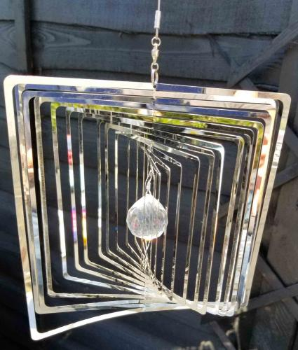 Stainless Steel Square Wind Spinner - Square Design