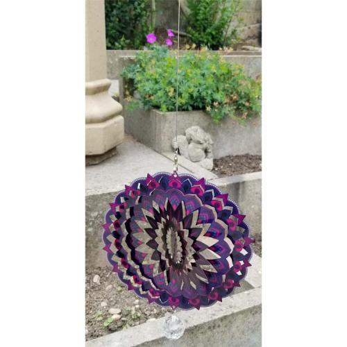 Stainless Steel Wind Spinner - Purple Haze Colour Design