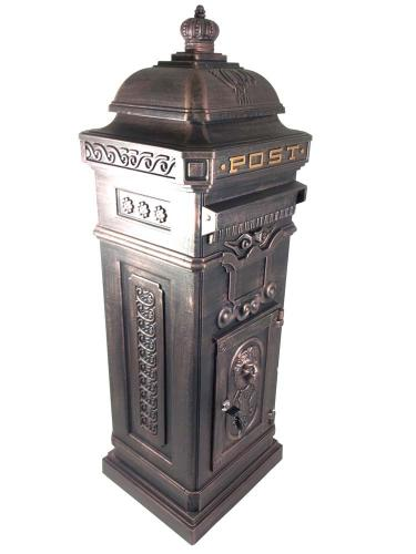 Vintage Bronze Grand Pillar Post Box