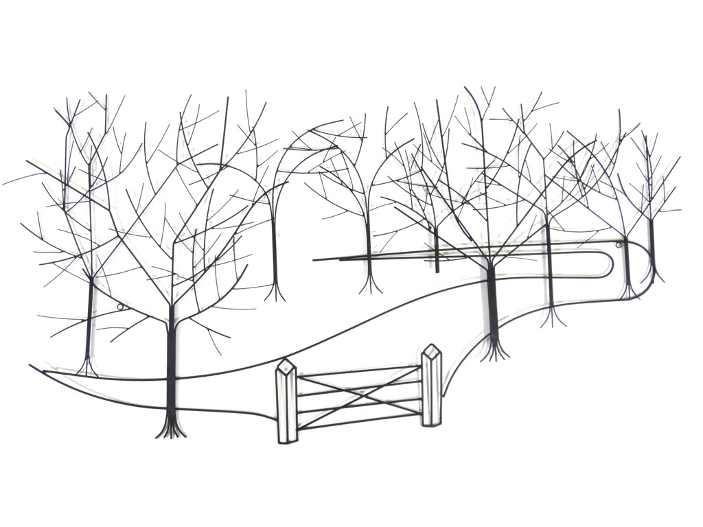 Metal Wall Art - Large Up The Forest Garden Path